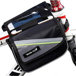 TOOGOO Bicycle Frame Pannier and Front Tube Cell Phone Bag
