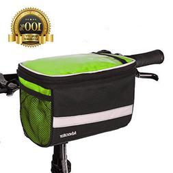 Advocator Bicycle Front Bags, Bike Handlebar Bag with Sliver