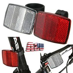 Bicycle Front Rear Reflector Bike Reflective Lens Cycling Ac