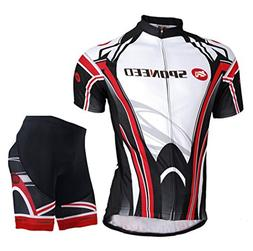 Sponeed Men's Bicycle Jersey Polyester and Lycra Shirt Cycli