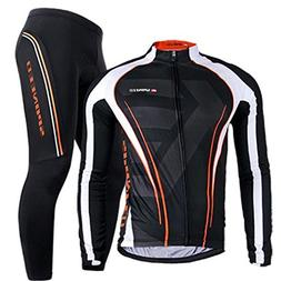 Bicycle Jersey Long Sleeve,Men's Cycling Apparel Polyester L