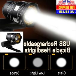 Bicycle Light Bike Front Headlight Rechargeable T6 LED MTB 1