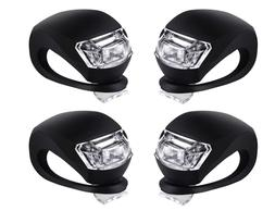 Bicycle Light Front and Rear Silicone LED Bike Light Set Hea