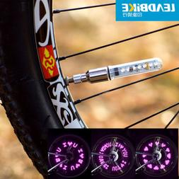 Bicycle Lights Wheel Tire Valve Bike Accessories Cycling Led