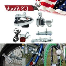 12V 6W Motorized Bicycle Friction Generator Headlight Tail L