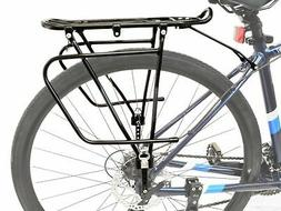 bicycle rear frame mounted cargo rack for disc bikes height