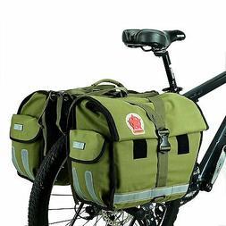 TOOGOO Bicycle Rear Seat Trunk Bag Handbag Bag Pannier Black