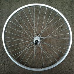 """26/"""" 1 3//8/""""  Alloy 5//6//7 speed Freewheel 36 Spokes 3//8/"""" Axle Silver rear Wheel"""
