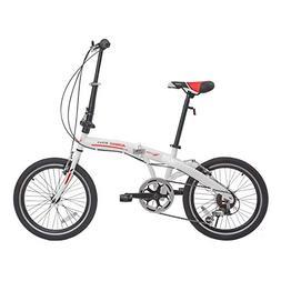 Murtisol Folding Bike 20'' Hybrid Bicycle Reinforced Fra