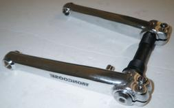 MONGOOSE BICYCLE SILVER/CHROME CRANK ARM SET 175MM MOUNTAIN