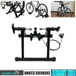 Bicycle Trainer Stand Magnetic Bike Exercise Quiet Noise Red