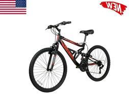 "Hyper Bicycles Men's 26"" Shocker Mountain Bike, Black/Red"