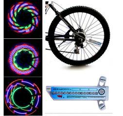 Bike 30-pattern Cycling Bicycle Lamp LED Spoke Tyre Tire Whe