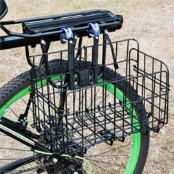 Bike Basket Wire Mesh Fold-Up Bicycle Front Handlebar Storag