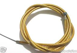 "BIKE BICYCLE 1 Brake Housing 60"" + 1 CABLE 68"" Braided Gold"
