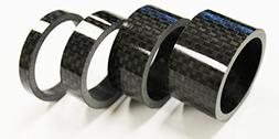 """The Flying Wheels 4pc Bike Bicycle Full Carbon Spacer 1-1/8"""""""
