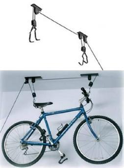 2 PACK Bike Bicycle Lift Ceiling Mounted Hoist Storage Garag