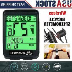 Bike Bicycle Waterproof Wireless Road Speedometer LCD Comput