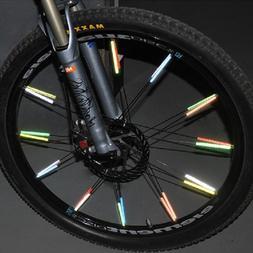 12 PCS Bike Bicycle Wheel Spoke Reflector Reflective Mount C