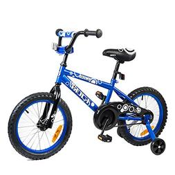 Tauki Kid Bike BMX Bike for Boys and Girls, 16 Inch, Blue, 9