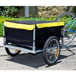 Bike Cargo Trailer Bicycle With Cover Shopping Cart Carrier