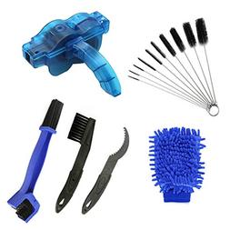 AHCSMRE Bike Chain Cleaning Brush Kit Bicycle Maintenance W