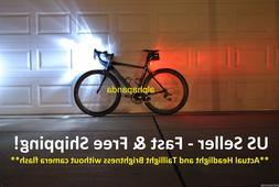 Bike Cycling Front/Head+Tail/Rear LED Light Lamp Set Warning