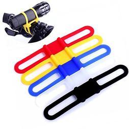 Flashlight Bike Mount Silicone Strap Rubber Tie Down Straps