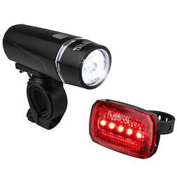 BV Bike Front & Rear LED Light Set Cycling Head & Tail Flash