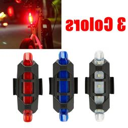 Bike Front Rear LED Safety Light Bicycle USB Rechargeable Ta