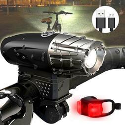 Bike Headlight Set Waterproof USB Recharge LED Bicycle Front