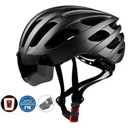 Basecamp Bike Helmet, Bicycle Helmet with CPSC Certified LED