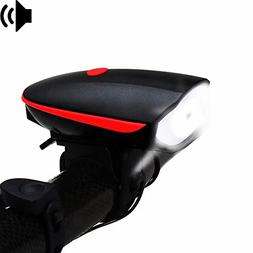 Fineed Bike Light Front & Loud Bicycle Horn Set,Super Bright