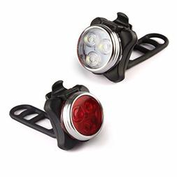 Bike Light USB Rechargeable Front Headlight Water Resistant