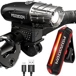 HODGSON Bike Lights 400 Lumens Bicycle Light Front and Back,