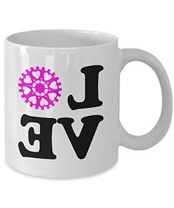Bike Mug - Love Biking - Cycling Gift Ceramic Coffee Mug Tea