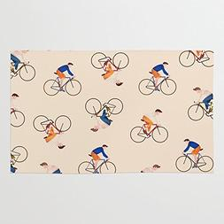 Society6 Bike Pattern Rug 3' x 5'