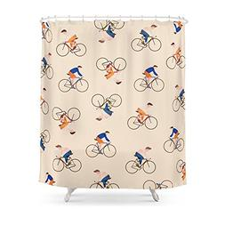 "Society6 Bike Pattern Shower Curtain 71"" by 74"""