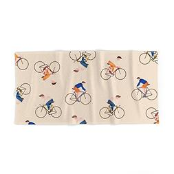 "Society6 Bike Pattern Bath Towel 64""x32"""