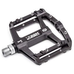 "MEETLOCKS Bike Pedal CNC Aluminum Body Cr-Mo Machined 9/16"""