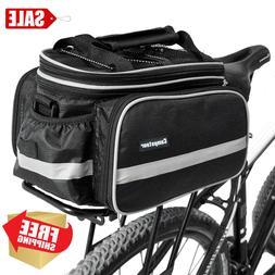 Bike Rack Top Bag Luggage Storage Bicycle Insulated Black Wa