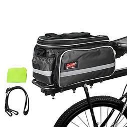 Arltb Bike Rear Bag  20-35L Waterproof Bicycle Trunk Bag wit