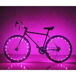 Bike Rim Lights Soondar Super Bright 20 LED Bicycle Pinkish/
