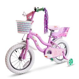 COEWSKE Kid's Bike Steel Frame Children Bicycle Little Princ