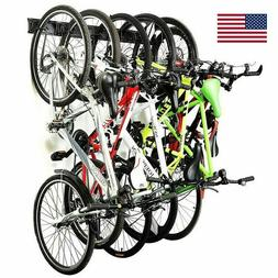 Bicycle Bike Wall Mount 6 Hooks Hanger Cycling Rack Garage S