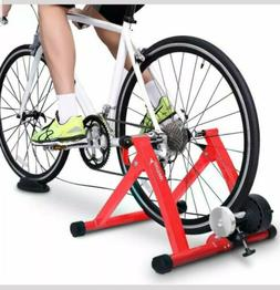 Bike Trainer Stand Steel Bicycle Exercise with Noise Reducti