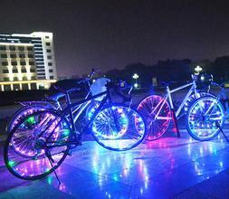 Bike Wheel Lights 20 Bright LED String for Safe Night /Rain