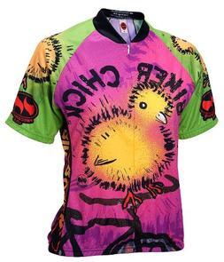 Biker Chick - Chick on a Bike Womens Cycling Jersey Medium