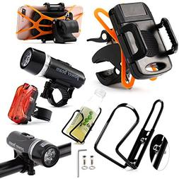 Biking Accessories Kit - Water Bottle Holder / Mount  + LED