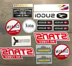 Biking Sticker Pack Decal Bikes SRAM Zoic Stans No Tubes Ret